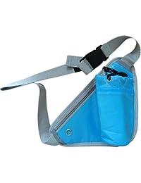 Vepson Blue Running Waist Bag Belt Water Bottle Holder Pouch (Blue)