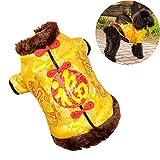 DJLOOKK Ropa para Perros Estilo Chino Ropa para Mascotas Mono Chino...