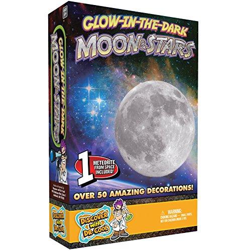 Discover with Dr. Cool Glühen Sie in der dunklen Mond und Sternen Wand und Decke Decals (In Dunklen Der Glühen)