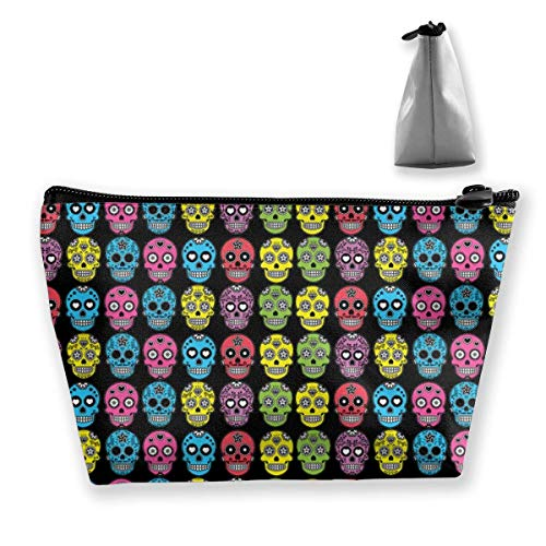 Halloween Mexican Sugar Skull Pencil Case Bag Zipper Bag Coin Bag Makeup Bag Pouch Storage Bags Large Capacity Pen Holders
