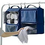 TIMLand Taschenorganizer Hängende Aufbewahrung Kleiderschrank,Closet Organizer Faltbar Tragbar Abnehmbare Kleidung Handtasche Taschen Aufbewahrung Stoffschrank 39 * 32 * 19cm