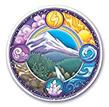 Mandala Arts Colorful Decal Fensteraufkleber - 4.5