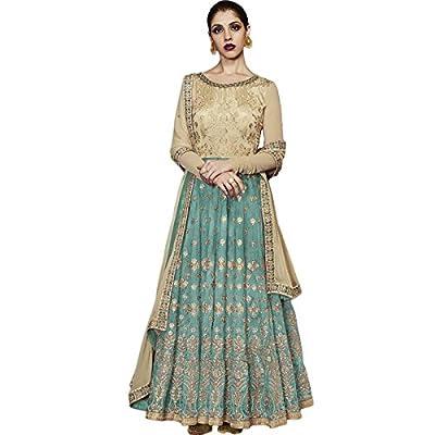 Impressed Collection Sky Blue Silk Party Wear Salwar Kameez