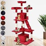 Leopet Mobili Gatto Gatti Albero Tiragraffi per gatti Extra alto circa 156 cm con tanti giochi e possibilità di coccole (colore a scelta).