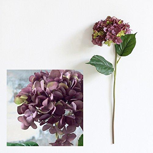 Im europäischen Stil französischer Seide Blume, imitation Blume, Wohnzimmer dekorativen Blumenornamenten, dunkel lila (Dunkel Lila Seide Blumen)