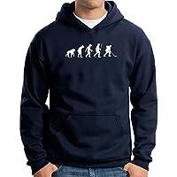 T-Shirtshock - Felpa Hoodie EVO0039 Ice Hockey Evolution Humor Maglietta