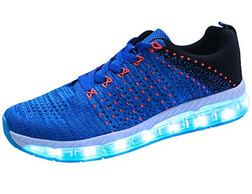 Mr.Ang Frühling-Sommer-Herbst-Breathable LED Schuhe 7 Farben USB Aufladbare Leuchtschuhe Kinderschuhe Erwachsene für Halloween Weihnachten Dank Giving ()