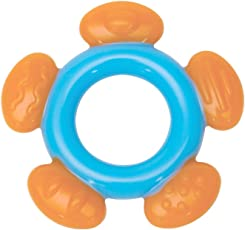 Mee Mee Multi-Textured Silicone Teether (Single Pack, Blue Orange)