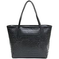SMCTCRED nuovo in vera pelle coccodrillo Platinum Sacchetti Borsa Moda Donna patchwork Designer Brand donna di alta qualità Ufficio Messenger Borsa a tracolla, Black