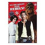 Hallmark, biglietto di Natale Star Wars con Adesivi, medio [testo italiano non garantito]
