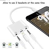 Blitz auf 3,5 mm Kopfhöreranschluss Doppelblitz Audio und Lade Splitter für iPhone