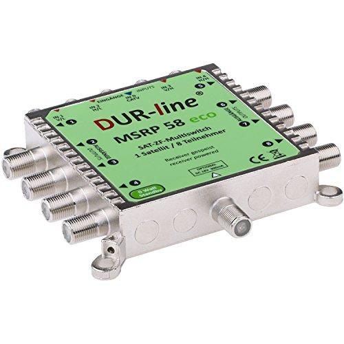 DUR-line MSRP 58 eco - Multischalter für 8 Teilnehmer - Geringe Stromaufnahme - 0 Watt Standby Multiswitch [Digital, HDTV, FullHD, 4K, UHD]