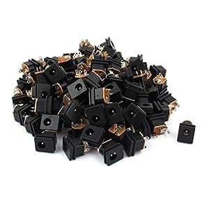 100 Pcs 5.5mm x 2.1mm Female 3 Pin DIP DC Power Jack Connector DC-0052