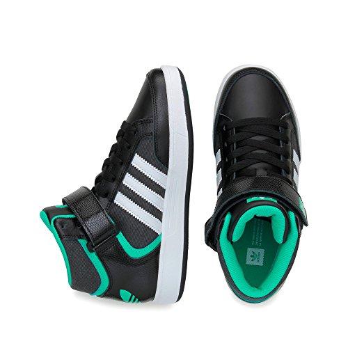 adidas Jungen Varial Mid J Skaterschuhe Black (Negbas / Ftwbla / Menimp)