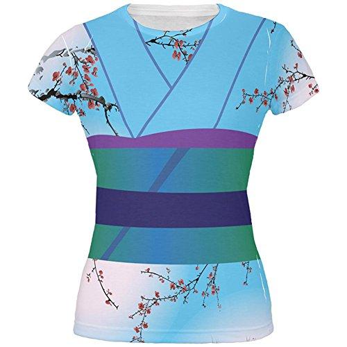 Halloween Kostüm Kimono aller Junioren T Shirt Multi blau (Halloween Junioren Kostüme)