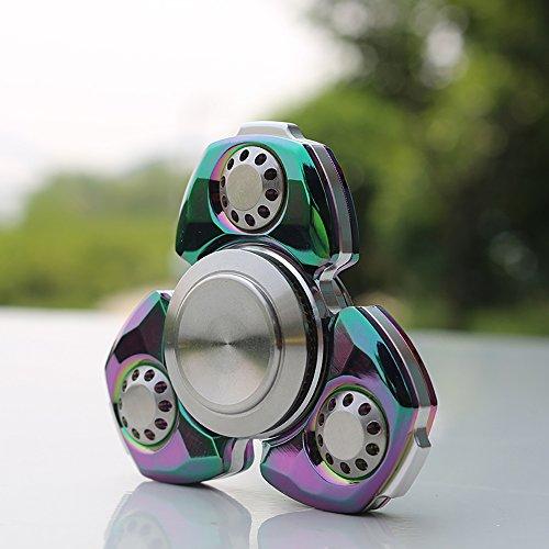 Preisvergleich Produktbild Maximum 8 Minuten Rotation Hand Spinner, iMusk Diamant-Spiegel-Oberfläche Spinner mit High-Speed-Hybrid Si3N4 Lager … (Rainbow)