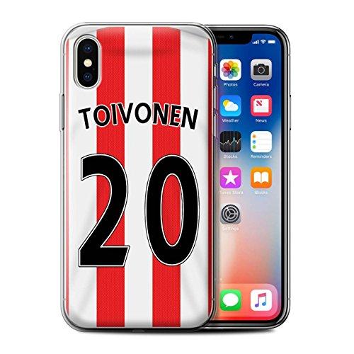 Offiziell Sunderland AFC Hülle / Gel TPU Case für Apple iPhone X/10 / Kone Muster / SAFC Trikot Home 15/16 Kollektion Toivonen