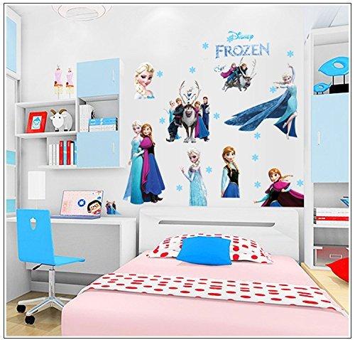 Frozen - Elsa- Pegatina infantil muy grande para pared de dormitorio