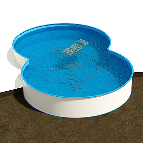Achtform Pool Größe 8,55 x 5,00 m | Tiefe 1,20 m | Innenfolie blau, 0,80 mm stark | Stahlwand 0,60 mm stark