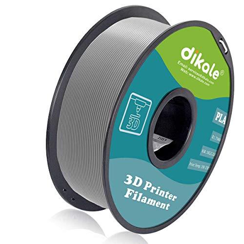 Dikale 3D-Druckerfilament PLA, 1,75 mm, 1 kg Spule, Maßgenauigkeit +/- 0,03 mm, Schwarz (ordentlich gewickelt - kein Gewirr)