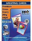 Photo Paper Direct Inkjet Grußkarte, glänzend incl. DIN A5, 260g/m, 100 Karten