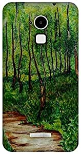 The Racoon Lean #trees hard plastic printed back case / cover for Coolpad Note 3