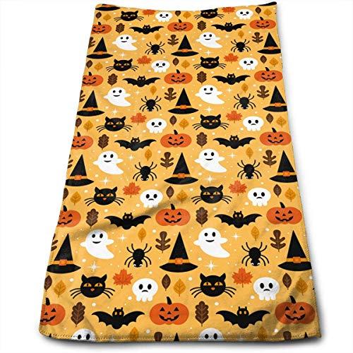QuGujun Towel Halloween Cat Cloud Boo Super Soft Absorbent Sports/Beach/Shower/Pool Towel (Tan Geschirrtücher)