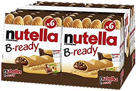 Nutella B-ready deutsche Version mit 22g Riegel, 16er Pack (16 x 132g Multipack) (Nutella Ferrero)