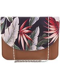 ShopMantra Women Multi-Color Leaf Printed Sling Bag