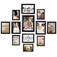 Homemaxs 12 Pack Picture Frames Collage Photo Frames Wall Gallery Kit for Wall and Home, Five 4x6 in, Four 5x7 in, Two 6x8 in, One 8x10 in, Black