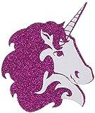 pastease Damen Einhorn: Hot Pink Glitzer mit Weiß Brustwarzenaufkleber, O/S