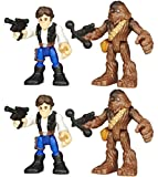 Star Wars Galactic Heroes Hans Solo And Chewbacca 2 Pack
