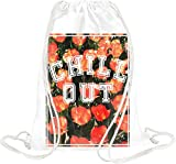 Chill Out Floral Texture Drawstring bag