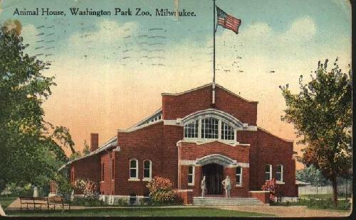 antigua-postal-old-postcard-animal-house-washington-park-zoo-milwaukee