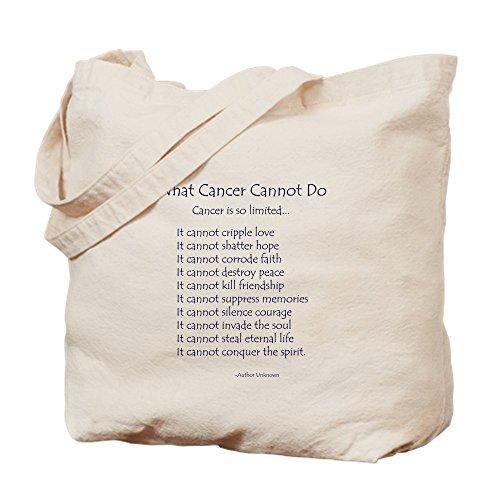 CafePress–Was Krebs Inspirierende Krebs Gedicht nicht zu–Leinwand Natur Tasche, Reinigungstuch Einkaufstasche Tote S khaki (Bag - Krebs-tote)