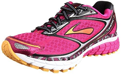 Brooks Ghost 7 Damen Sportschuh Pink/Gelb