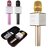 #7: higadget™ Q9 Karaoke Mic Wireless, Portable Handheld Singing Machine Condenser Microphones Mic And Bluetooth Speaker Compatible with iPhone/ iPad/ iPod/ and all android smartphones ( WITH BASS / TREBBLE / MIXER / AUTO MODE )