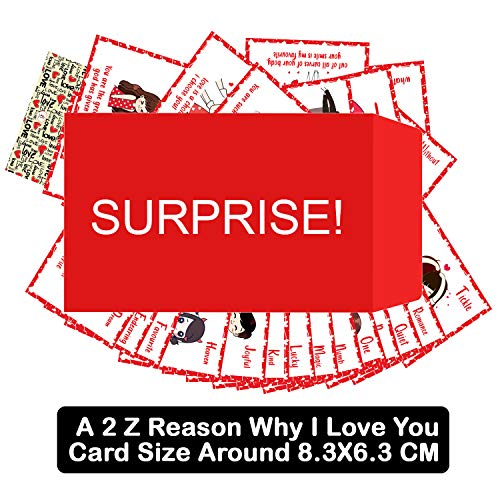 OddClick A-Z Reasons to Love You Romantic Gift Cards for Anniversary Love Greeting Cards Gift for Valentine Day, Birthday Cards Gifts