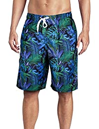 ed685ab13c3b3 Men's Swimming Trunks Quick Dry Board Shorts Print Swim Shorts