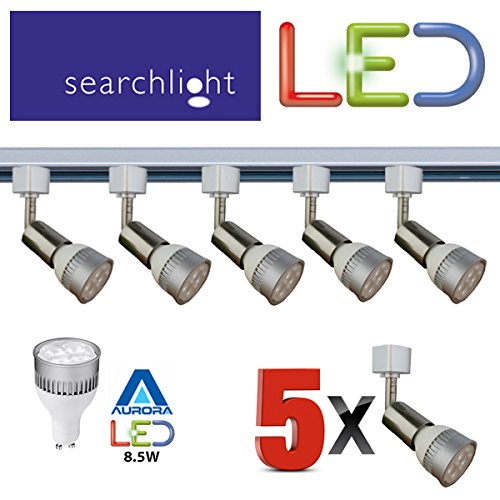 SEARCHLIGHT LED GU10 SATIN SILVER TRACK LIGHTING