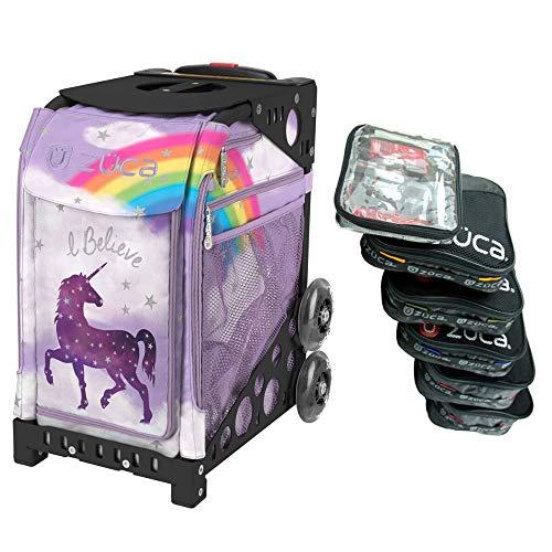 ZUCA Einhorn Dreamz Sport Einstecktasche mit Pro Packtasche Set von 5 großen und 1 kleinen stapelbaren Utensilientaschen (Sportrahmen separat erhältlich)