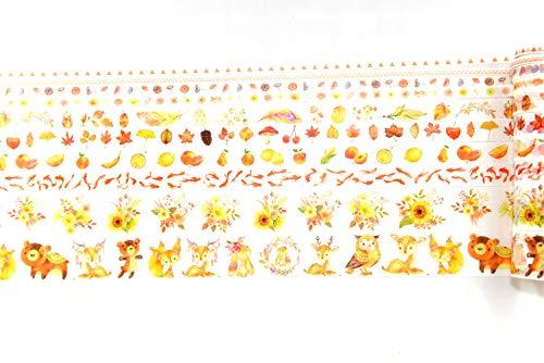 10 Rollen Aquarell Illustration Washi Masking Tape Set, dekorative Papierbänder für Kunst und DIY Handwerk, Scrapbooking, Bullet Journal, Planer, Geschenkverpackung, Urlaubsdekoration small herbst