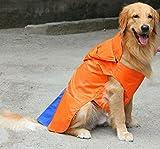 #7: DogSpot Hooded Raincoat Orange Size -24