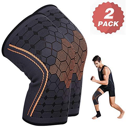 KEAFOLS Knieschoner Kniebandage 2 Stück Unisex Knie-Sportbandage Knieschützer Knieorthese Stabilität und Unterstützung beim Sport Outdoor und Fitness MEHRWEG