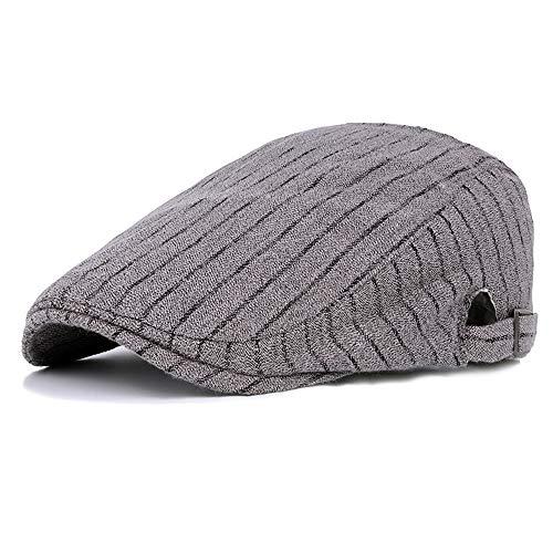 LINSID CAPPELLO-Berretti Unisex Berretto Lavorato a Maglia Donna per Uomo Invernale Traspirante Cappelli semplici Cappotto Caldo Solido Casual Lady Grigio
