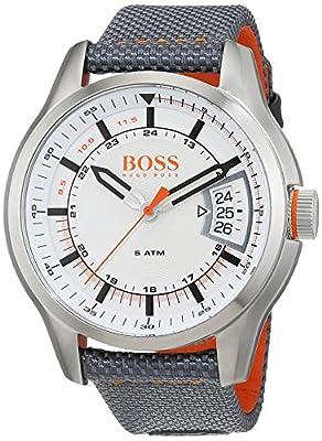 Hugo Boss Orange Hong Kong Mens Quartz Analogue Classic Grey Rubber Strap 1550015