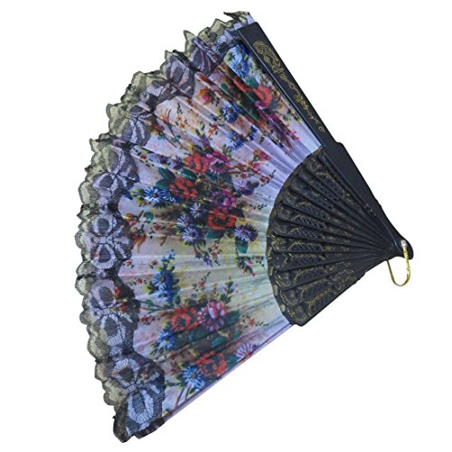 NPRC Attractive Colours Home Decoration Hand Held Folding Hand Fan