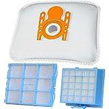 10 Staubsaugerbeutel + 1 Hepa Filter + 1 Motorschutzfilter geeignet für Siemens VSZ 3 ... Serie Z 3.0