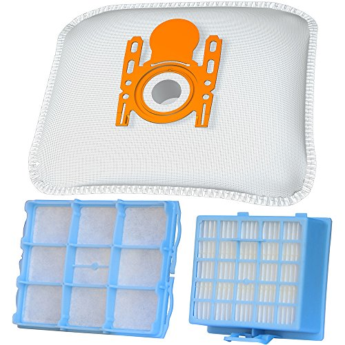 Staubsaugerbeutel-Filter-Set mit 10 Staubbeutel + 1 HEPA-Filter +1 Motorschutzfilter geeignet für Bosch BSG6 / Siemens VS06G Serie