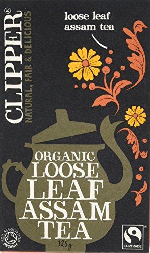 A photograph of Clipper fairtrade organic assam